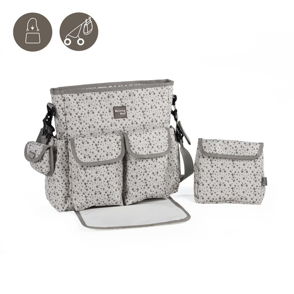 436036 STARS BE BOLSA CANASTILLA GRIS WALKING MUM 0