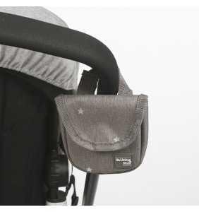 Porta chupete bebé Gaby gris Walking Mum