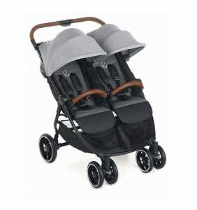 Silla paseo bebé gemelar TWINLINK Jet Black 2020