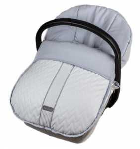 Saco grupo 0 bebé invierno mod.581 gris Rosy Fuentes