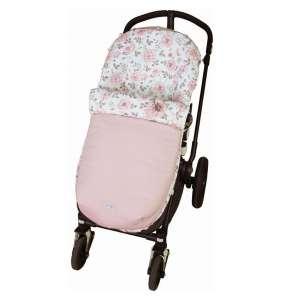 Saco silla bebé primavera Flor Empolvada rosa reversible Rosy Fuentes