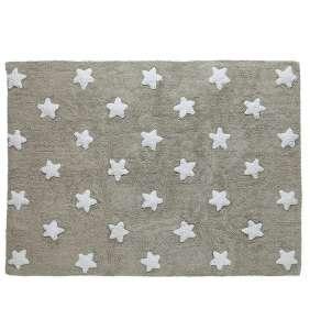 Alfombra lavable bebé Stars gris Lorena Canals