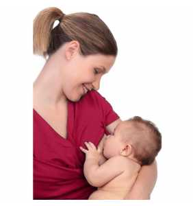 Camiseta porteo/lactancia bebé roja L Amarsupiel