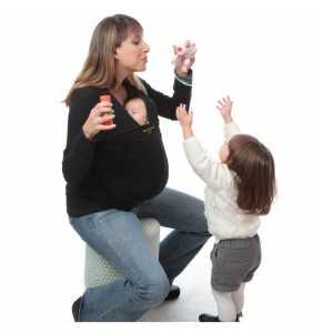 Camiseta porteo/lactancia bebé negra XL Amarsupiel